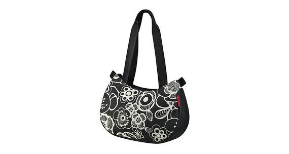 KlickFix Stylebag fietstas fleur wit/zwart